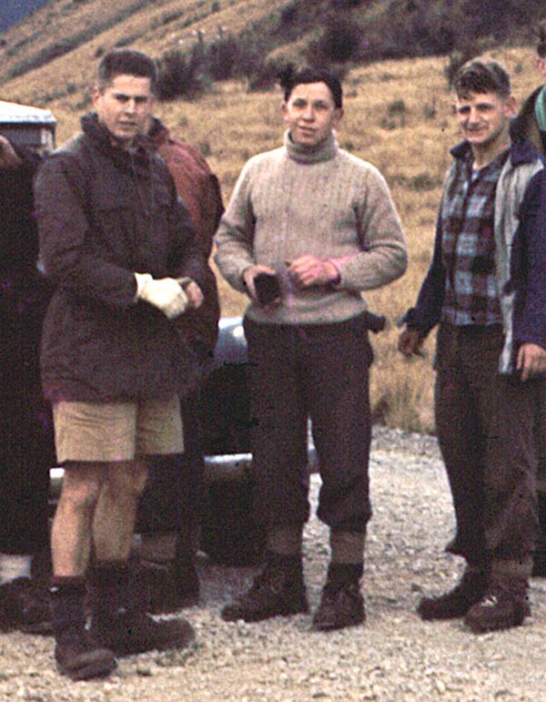 Winter 1957: Jim Haskill, Stu Pearce and Mister Magoo - Arthurs Pass highway