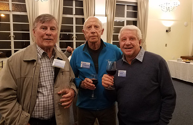 2019 Reunion at Wigram Manor: Gary Wright, me, Graeme Stagg
