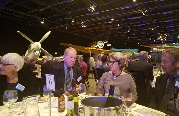2019 Reunion Dinner: Bill Starkie, his wife and friends