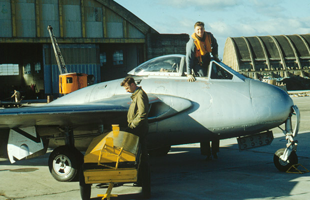 1962 DH Vampire FB5 at Ohakea, preparing for the real thing