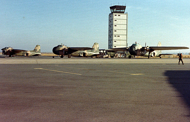 1975: 41 Squadron aircraft at Saigon airport - Last days in Vietnam