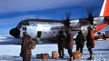 USN VX6 Hercules C-130 BL at the South Pole Station