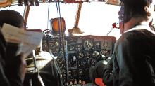 Cockpit of the VX-6 C-130 BL - no Flight Director System in this B model