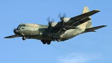 An Australian Air Force C-130 H coming in to land.